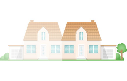 Icon: Einfamilienhaus mit Einliegerwohnung